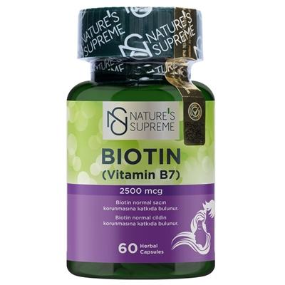 Nature\'s Supreme Biotin 2500 Mcg 60 Kapsül