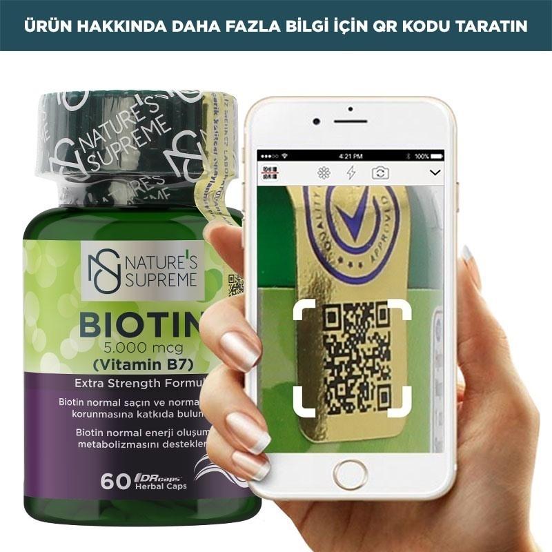 Nature's Supreme Biotin 5000 Mcg 60 Kapsül