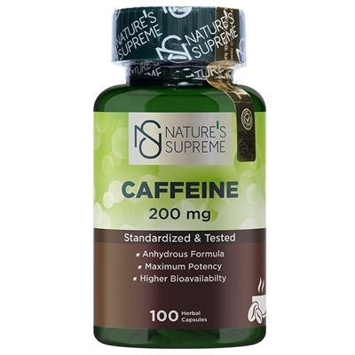 Nature\'s Supreme Caffeine 200 Mg 100 Kapsül