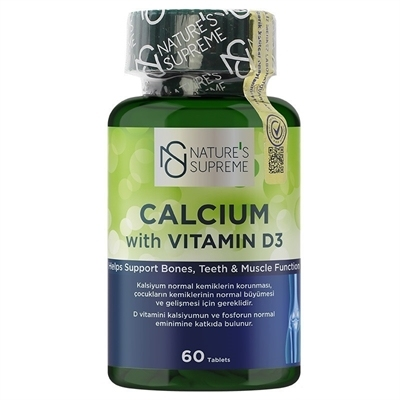 Nature\'s Supreme Calcium with Vitamin D3 60 Tablet