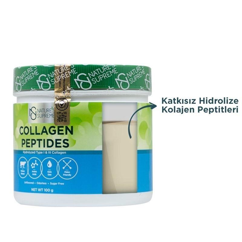 Nature's Supreme Collagen Peptides Powder 100 Gr