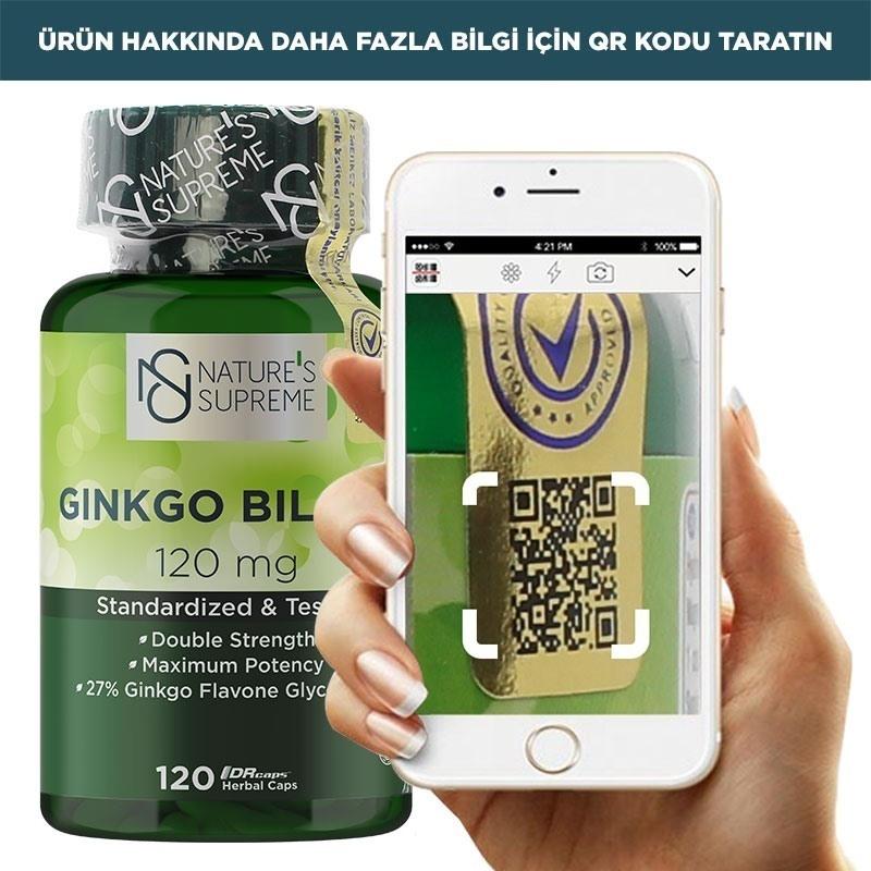 Nature's Supreme Ginkgo Biloba 120 Mg 120 Kapsül