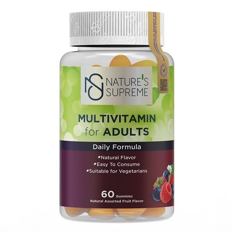 Nature's Supreme Gummies Multivitamin for Adults 60 Çiğnenebilir Form
