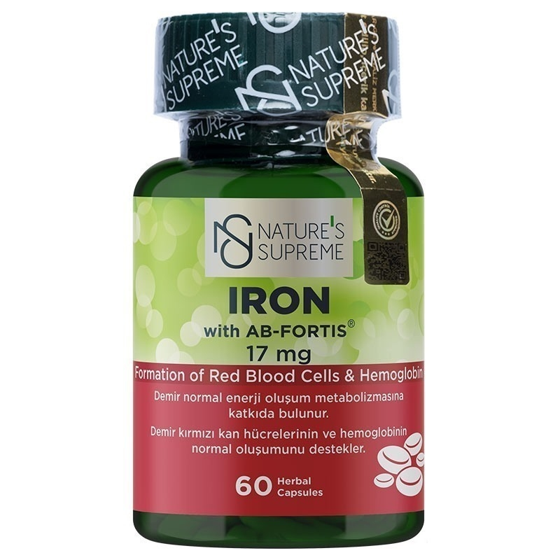 Nature's Supreme Iron 17 Mg 60 Kapsül