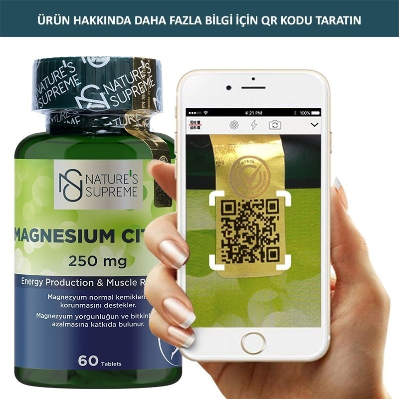 Nature's Supreme Magnesium Citrate 250 Mg 60 Tablet