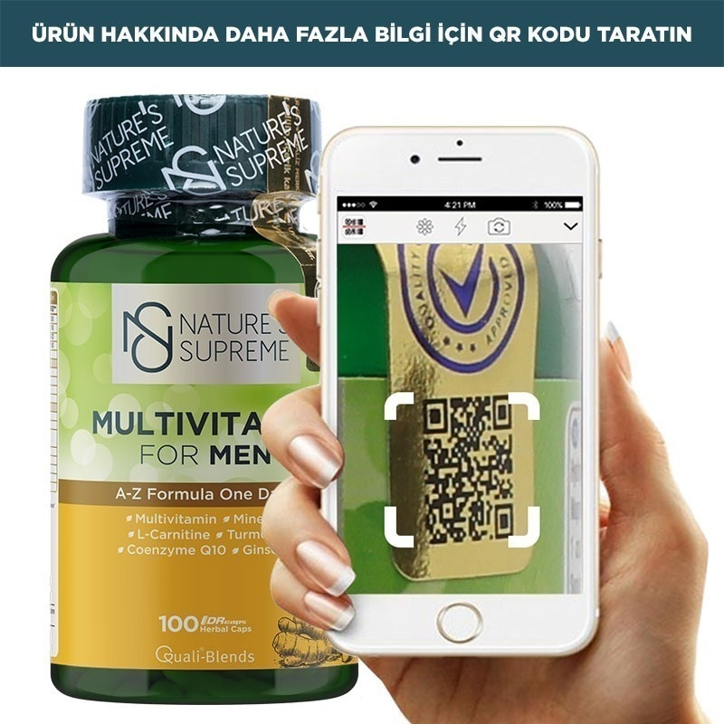 Nature's Supreme Multivitamin for Men 100 Kapsül