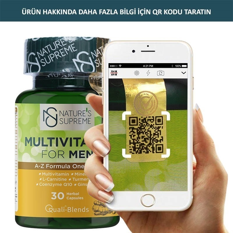 Nature's Supreme Multivitamin for Men 30 Kapsül