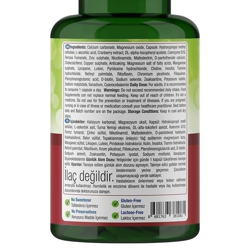 Nature's Supreme Multivitamin for Women 100 Kapsül