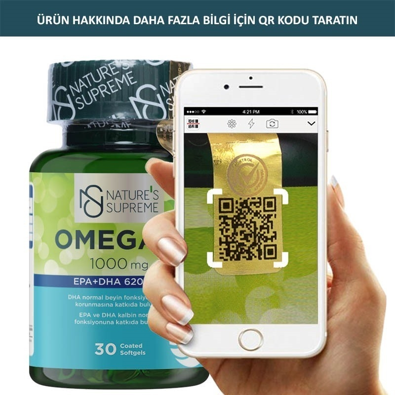 Nature's Supreme Omega 3 1000 Mg 30 Kapsül
