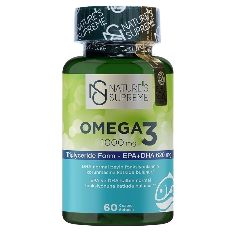 Nature's Supreme Omega 3 1000 Mg 60 Kapsül