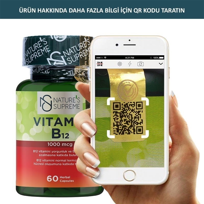 Nature's Supreme Vitamin B12 1000 Mcg 60 Kapsül