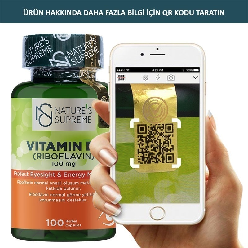 Nature's Supreme Vitamin B2 100 Mg 100 Kapsül