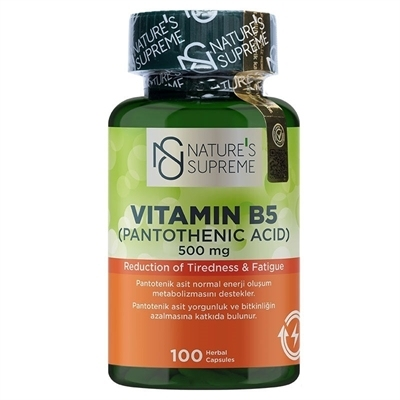 Nature's Supreme Vitamin B5 500 Mg 100 Kapsül