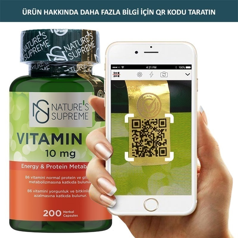 Nature's Supreme Vitamin B6 10 Mg 200 Kapsül