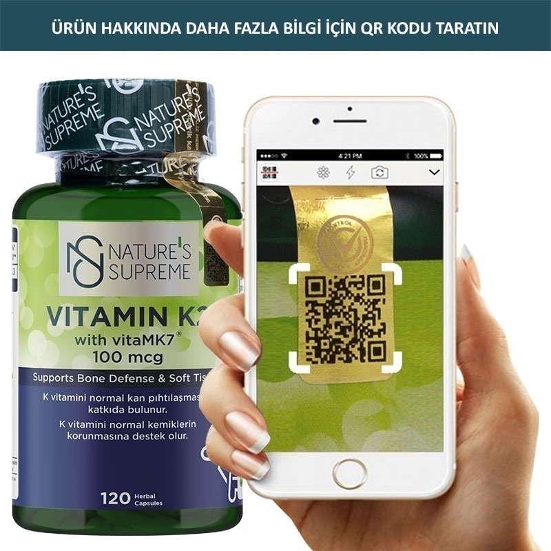 Nature's Supreme Vitamin K2 100 Mcg 120 Kapsül
