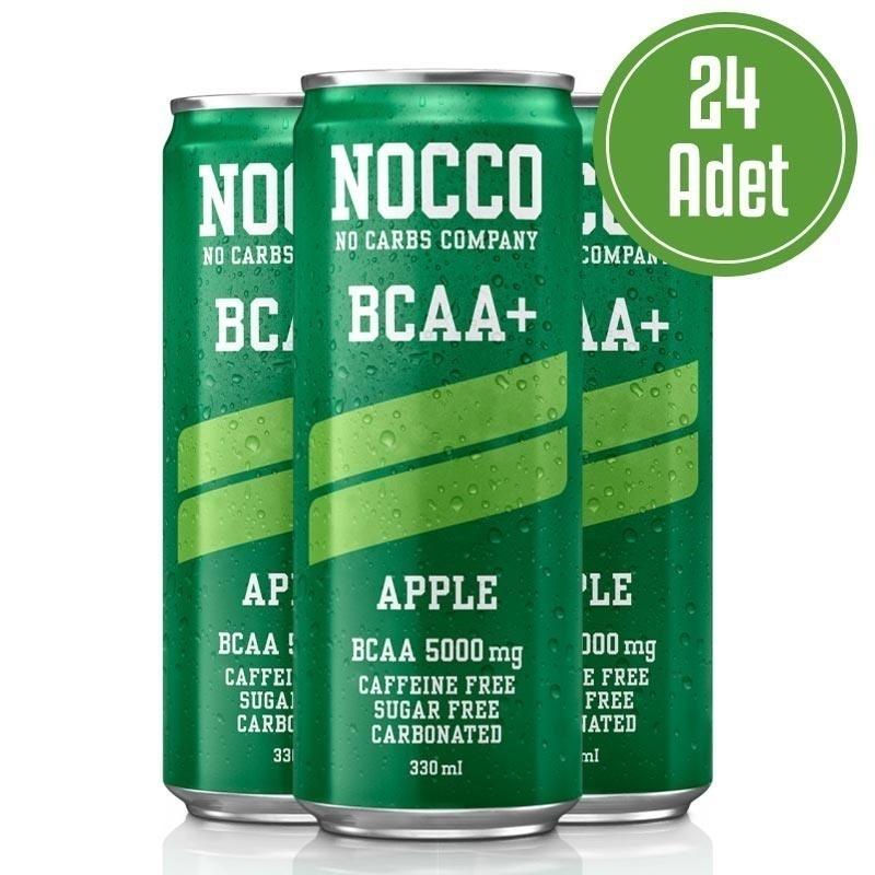 Nocco BCAA+ 330 mL 24 Adet Elma Aromalı