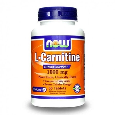 Now Sports L-Carnitine 1000 Mg 50 Tablet