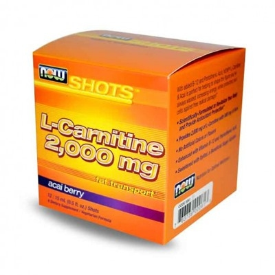 Now Sports L-Carnitine 2000Mg + Acai 12 Shot