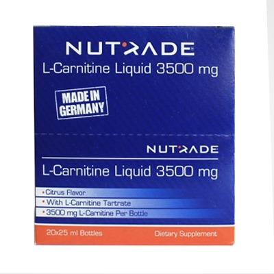 Nutrade L-Carnitine Liquid 3500 mg 20 Ampül