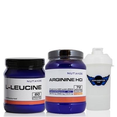 Nutrade L-Leucine + Arginine HCI + Shaker