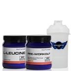 Nutrade L-Leucine + Pre-Workout + Shaker Kombinasyonu