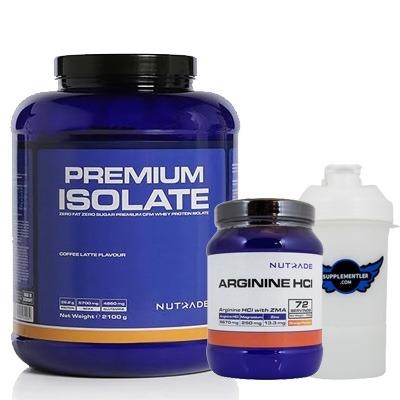 Nutrade Premium Isolate + Arginine HCI + Shaker Kombinasyonu