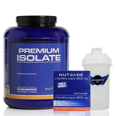 Nutrade Premium Isolate + L-Carnitine 3500 + Shaker Kombinasyonu