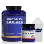 Nutrade Premium Isolate + L-Leucine + Shaker Kombinasyonu