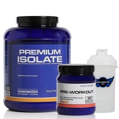Nutrade Premium Isolate + Pre-Workout + Shaker Kombinasyonu