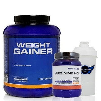 Nutrade Weight Gainer + Arginine HCI + Shaker Kombinasyonu