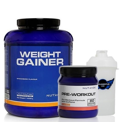 Nutrade Weight Gainer + Pre-Workout + Shaker Kombinasyonu