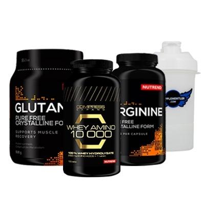 Nutrend Whey Amino 10.000 + Arginine 120 Kapsül + Glutamine 300 Gr + Shaker