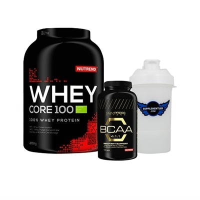 Nutrend Whey Protein 2.25 Kg + BCAA 100 Tablet + Shaker