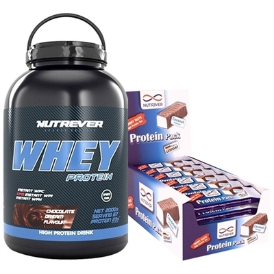 Nutrever Whey Protein 2000 Gr + Protein Pack 60 Gr 24 Adet Kombinasyonu