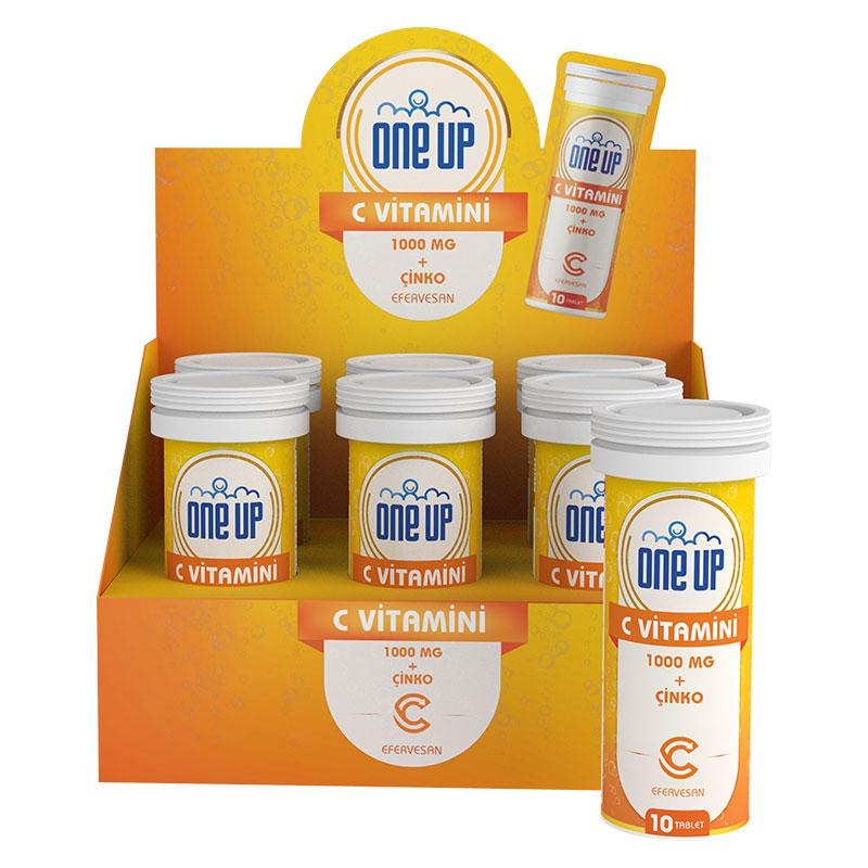 One Up  C Vitamini + Çinko 10 Efervesan Tablet 6'lı Kutu