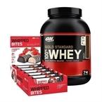 Optimum Gold Standard Whey 2273 Gr + Protein Whipped Bites 76 Gr 12 Adet Kombinasyonu