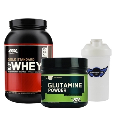 Optimum Gold Standard Whey 908 Gr + Glutamine Powder 630 Gr Kombinasyonu