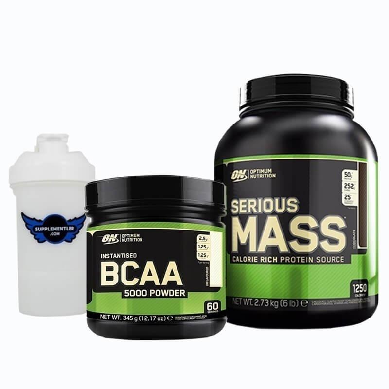 Optimum Serious Mass 2727 Gr + BCAA 5000 345 Gr Kombinasyonu