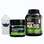 Optimum Serious Mass 2727 Gr + Glutamine Powder 630 Gr Kombinasyonu