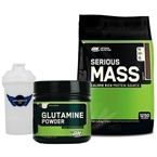 Optimum Serious Mass 5450 Gr + Glutamine Powder 630 Gr Kombinasyonu