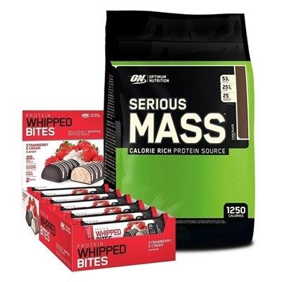 Optimum Serious Mass 5450 Gr + Protein Whipped Bites 76 Gr 12 Adet Kombinasyonu