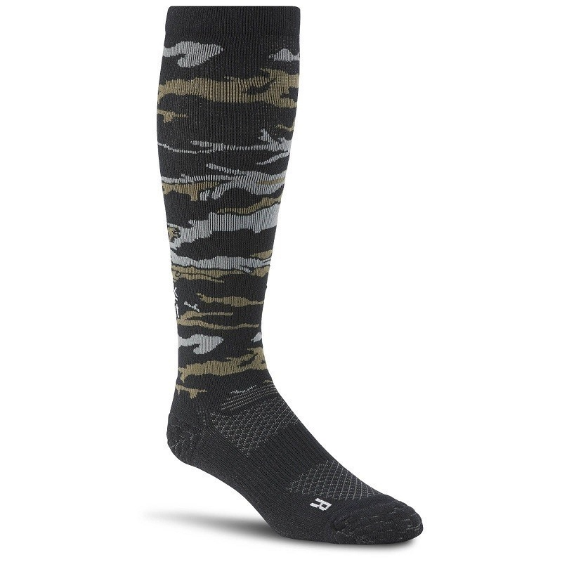 Reebok Crossfit Compression Çorap - Siyah/Yeşil Kamuflaj
