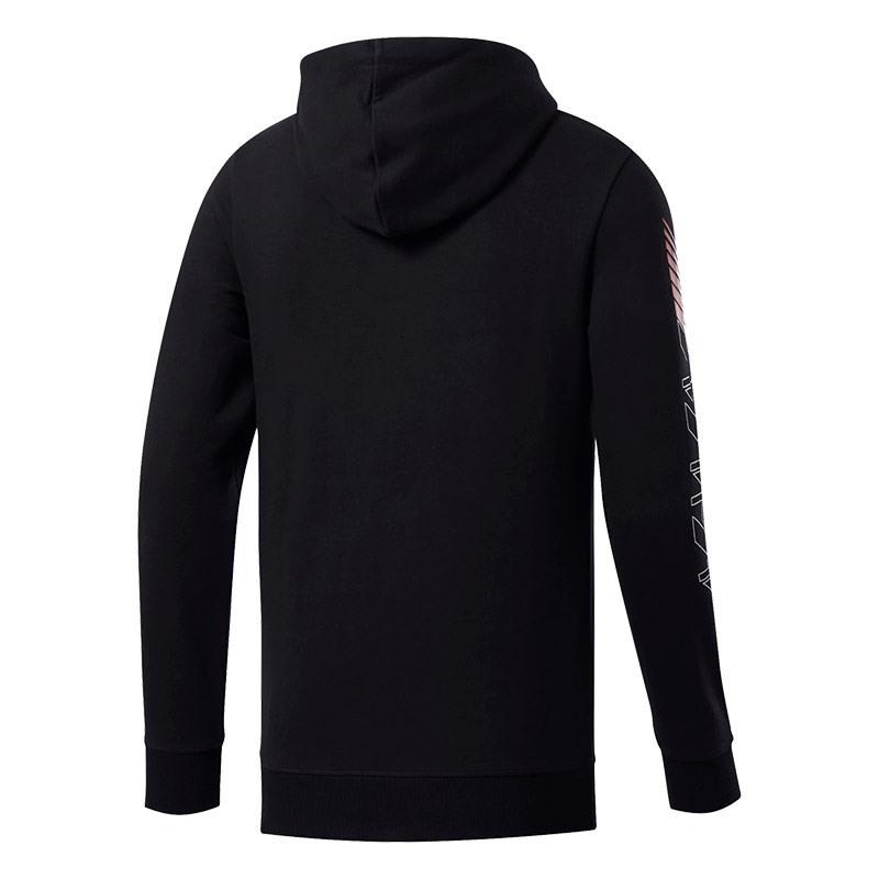 Reebok Crossfit Full-zip Fermuarlı Kapüşonlu Sweatshirt Siyah