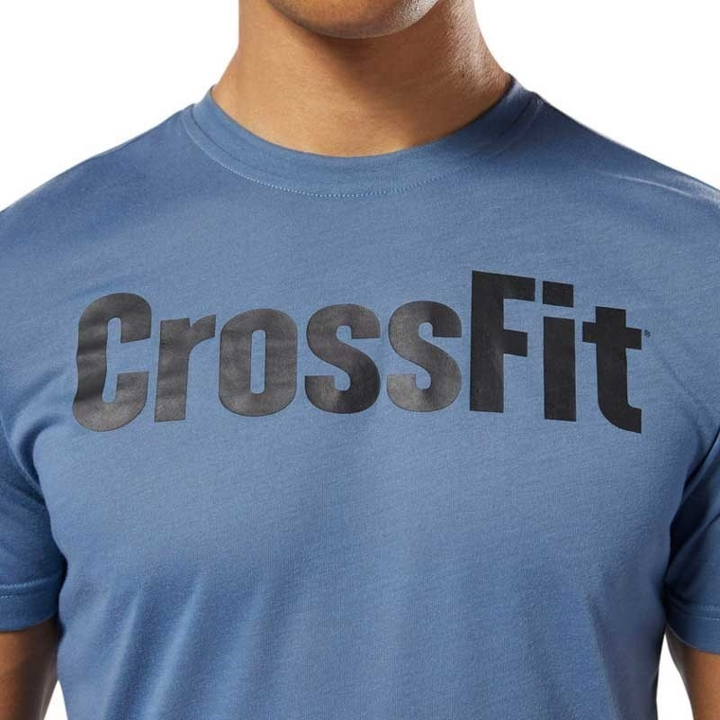 Reebok Crossfit Speedwick Graphic T-Shirt Siyah-Mavi