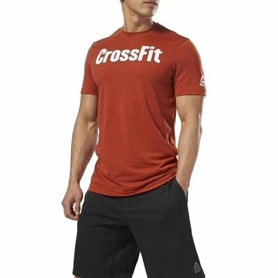 Reebok Crossfit Speedwick Graphic T-Shirt Turuncu