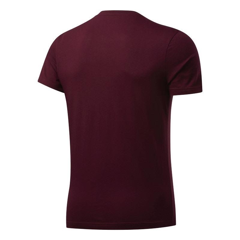 Reebok Graphic Series Stacked T-Shirt Bordo