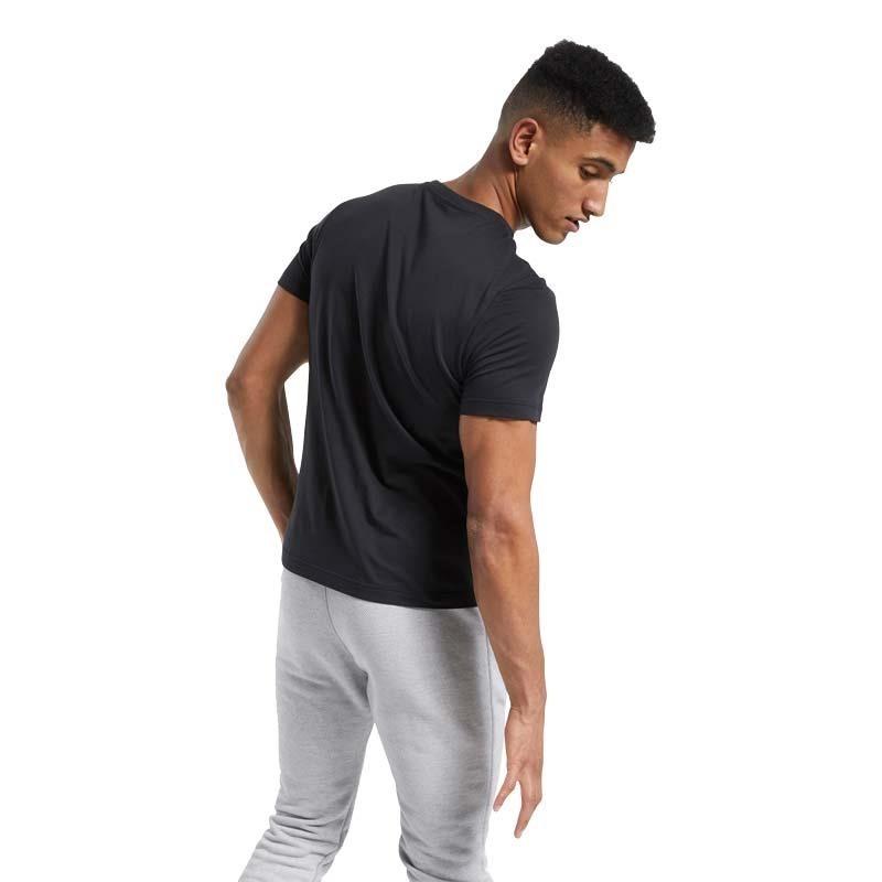 Reebok Graphic Short Sleeve T-Shirt Siyah