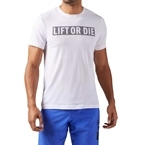 Reebok Lift Or Die T-Shirt Beyaz