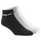 Reebok Royal Unisex Kısa Çorap 3'lü Paket - Gri/Beyaz/Siyah