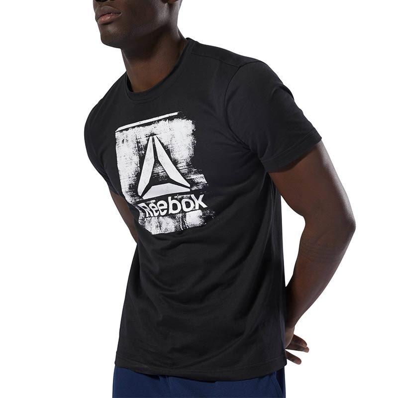 Reebok Stamped Logo Crew T-Shirt - Siyah